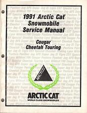 1991 ARCTIC CAT SNOWMOBILE COUGAR,CHEETAH  P/N 2254-645 SERVICE MANUAL (366)