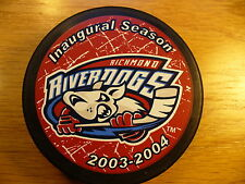 UHL Richmond River Dogs '03-04 Inaugural Season Logo Hockey Puck Collect Pucks