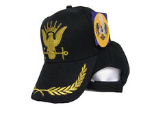 US Navy GOLD Seal Seals Eggs Feathers Black Ball Cap Hat