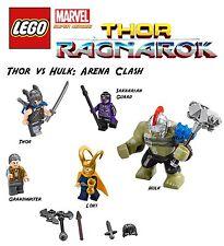 Lego Marvel Thor Ragnarok: Thor vs Hulk Arena Clash Minifigs!