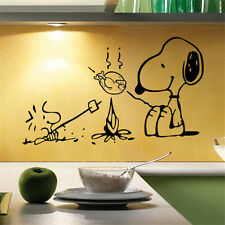 New Snoopy Dog Kitchen Removable Wall Stickers Decals Mural Vinyl Art Home Decor