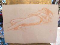 Dessin Nu de Femme allongée par André Simon 1926-2014 2004 Artiste Lorrain 3