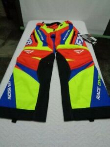 FXR Hi Vis Nuke Red Orange/Royal Blue Cold Cross Race Ready Snow Shell Pants