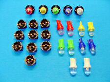 "15 Assorted Dome LEDs Light Bulbs 1/2"" Sockets Instrument Panel Dash Imports"