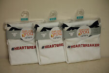 New Lot of 3 Just One You by Carters Long Sleeve Bodysuit #Heartbreaker 3 Months