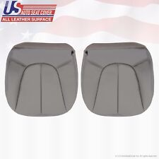 1997-2002 Ford Expedition XLT Driver & Passenger Bottom Leather Seat Covers Gray