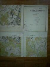 Topographische Karte Kreis Waldenburg Mapa Powiat Walbrzych 1962 RARE Militär