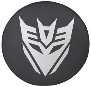 "SpareCover® Brawny Series -  Transformers Decepticon logo 33"" Denim Tire Cover"