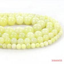 Natural Lemon Jade Gemstone Round Beads 15.5'' 2mm 3mm 4mm 6mm 8mm 10mm 12mm DIY