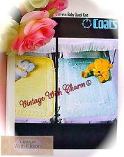 Vintage Knitting Pattern Baby's Cosy Pram Blanket 2 Styles Of Pattern FREE P&P!