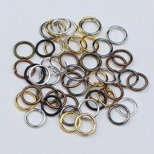 200pcs/lot 4 5 6 8 10 12 Jump Rings Connectors for Diy Jewellery Making Findings