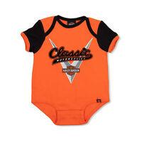 Harley Davidson Infant Newborn Baby & Kid Orange/Black Leotard