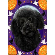 Labradoodle Black Halloween Howls Flag