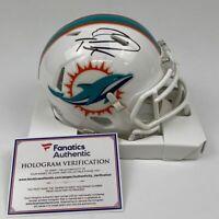 Autographed/Signed TUA TAGOVAILOA Miami Dolphins Mini Helmet Fanatics COA Auto