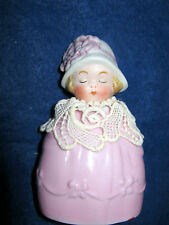 Antique bisque doll on perfume bottle -marked Germany
