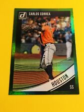 Carlos Correa 2018 Donruss Baseball Green Refractor Foil Houston Astros