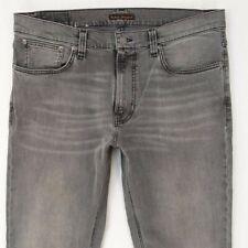 Mens Nudie LEAN DEAN Stretch Skinny Grey Jeans W36 L36