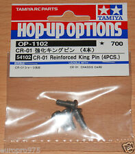 TAMIYA 54102 cr-01 rinforzato King Pin (4 PZ.) (cr01/Crawler/Bronco/Unimog) Nuovo con imballo