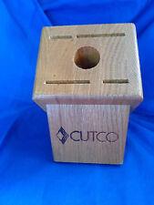 Cutco Knife Block Oak Wood Essentials Set 5 Slot Storage Knives Wooden Holder