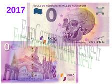 Billet Touristique Zéro Euro France 2017 Ecole Médecine Navale Rochefort !