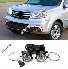 For 2012-2014 Honda Pilot Halogen Front Fog Light Assembly w/ Cable/ Switch Kit