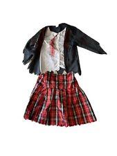 Halloween Zombie School Girl Fancy Dress Age 7 8 9