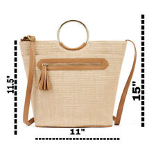 Time And Tru Isla Top handle Bag Color Beige Natural
