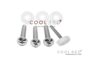 4 x HEADBOARD BOLTS SCREWS FIXINGS AND 4 x WASHERS FIXINGS FOR DIVAN BED