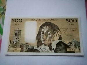 BILLET DE 500 FRANCS PASCAL DU 03/11/1977 P 86