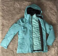 NWT ZeroXposur 3 In 1 Snow Winter Puffer Ski Jacket Blue Hooded Coat $200 M