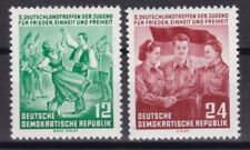 DDR 1954 postfrisch MiNr. 428-429  Deutschlandtreffen der Jugend, Berlin