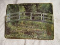 "Claude Monet  -  ""Bridge Over a Pond of Water Lilies""  Vanity Tray  Trinket Dish"