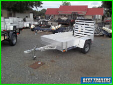 New Listing2021 aluma 548 Es side rack set New cargo 54 x 8 aluminum utility trailer
