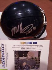 MIKE SINGLTARY SIGNED AUTO BEARS MINI W/ INSCRIPTON HOF GRIDIRON CERTIFIED