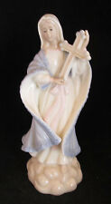 "San Francisco Music Box Madonna Virgin Mary Holy Mother Holding Cross 9"" tall"