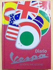 DIARIO AGENDA 12 mesi VESPA COLORE ROSSO  A QUADRI 15x11x2 cm  cod.5153