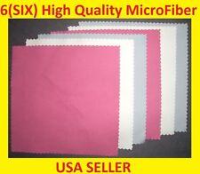 6 pc RWB MICROFIBER CLEANING CLOTH -> Ipad Ipod Tablet Laptop Iphone LED Screen