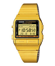 Casio DB380G-1 Men's Gold ToneVintage Metal Band 30 Memory Data Bank Watch