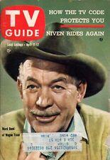 1959 TV Guide April 11-Ward Bond; Wagon Train; David Niven; Phyllis Kirk; P Como