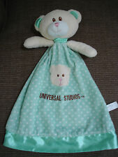 Universal Studios Mint Green Spotted teddy bear Baby Comforter Doudou Soft Toy