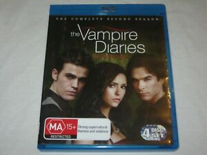 The Vampire Diaries - Complete Season 2 - 4 Disc Set - VGC - Region B - Blu Ray