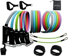 13Pcs Resistance Bands Exercise Home Workout Bands Fitness Training Ankle Straps