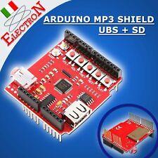 USB-SD U-disk MP3 Music shield board Serial UART interface Amplifier ARDUINO
