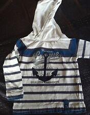 T Shirt manches longues / Bleu et blanc / Taille 3 Ans