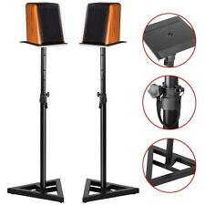 2X PA Studio Monitor Speaker Floor Stand Steel Speaker Stands Height Adjustable