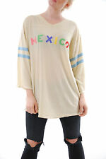 Wildfox Women's Mexico Jersey Tunic Beige Size S 3/4 Sleeves RRP £138 BCF510
