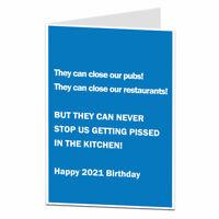 Funny Birthday Card Lockdown Drinking In The Kitchen Design