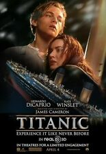 "TITANIC 3D RR2012 OSCAR BEST PICTURE Original Version B DS 27X39.5"" Movie Poster"