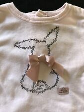 Lili Gaufrette (France) Pink Cotton Bunny Top- 6 Months