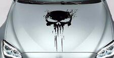 PUNISHER skull BLOOD hood side vinyl decal sticker for car track wrangler fj etc
